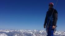 At the top of Wildspitze