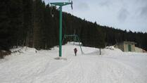 on the piste