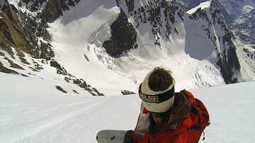 Davide Capozzi first descent splitboard Grand Combin