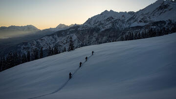 Group of four is good for splitboarding