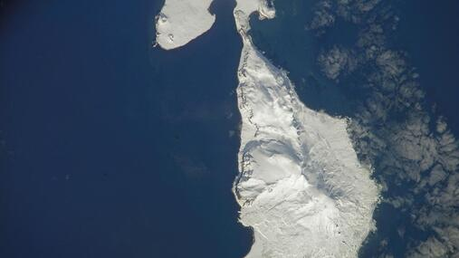 Heard Island - Image courtesy of NASA: ISS015-E-30781