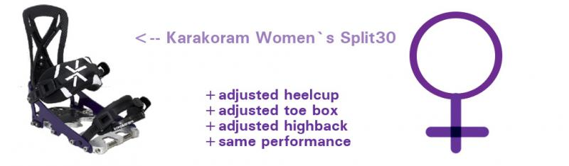 Women Splitboard Binding Karakoram