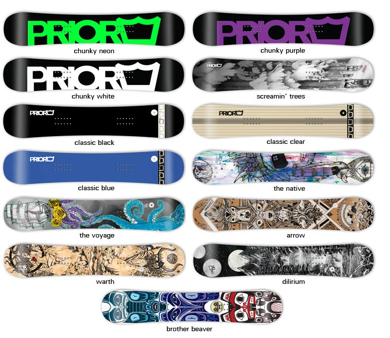 Prior Splitboards Designoptions 14-15