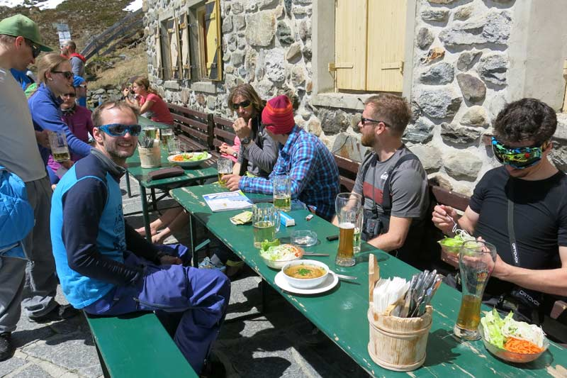 After the first touring day at Splitboarding Spring Fest 2015